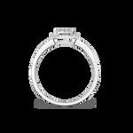White gold ring, SO16030-OBD_V