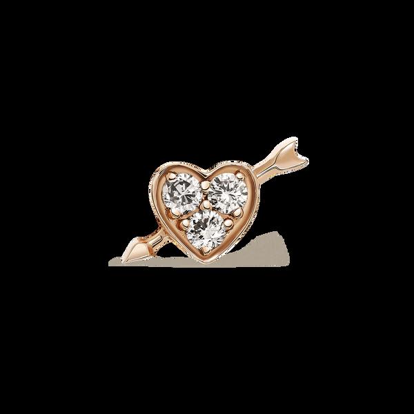 Rose gold earrings, PE17115-ORD_V