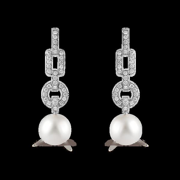 Pearls earrings, PE15073-OBD_V
