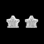 White gold earrings, PE14019-OBD