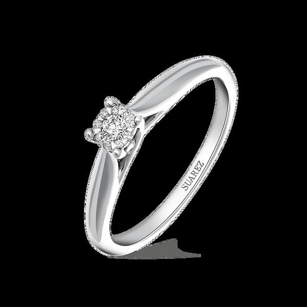 White gold ring, SO16034-OBD_V