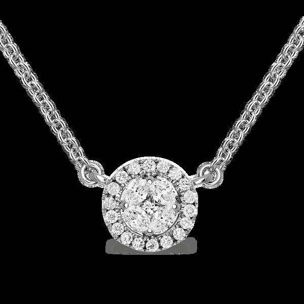 White gold pendant, PT16010-OBD4,8