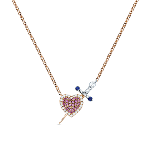 Rose and white gold pendant, PT17039-OROBDZZR_V