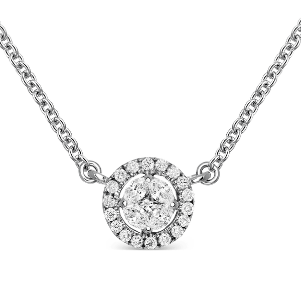 White gold pendant, PT16010-OBD_V