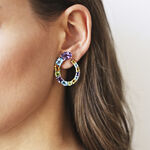 Pop Art earrings, PE16023-AGMULT_V