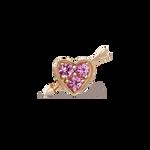 Rose gold earrings, PE17115-ORZR_V