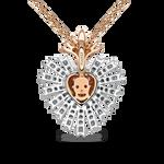The Amulets of Frida pendant, PT17003-OBORZRDDM_V