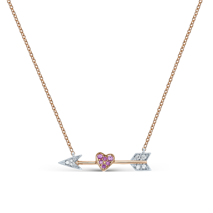 Rose and white gold pendant