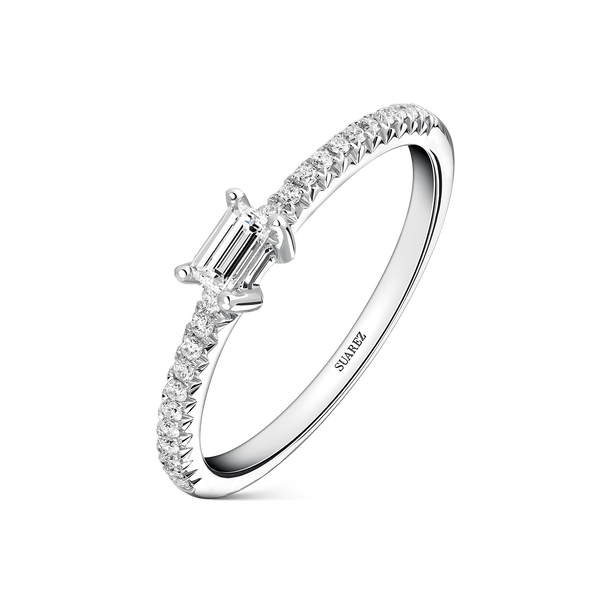 White gold ring, SL17001-00D015_V