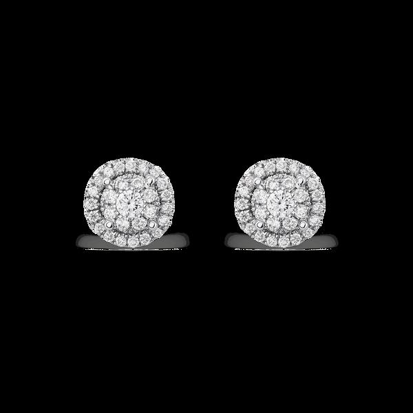 White gold earrings, PE16050-OBD_V