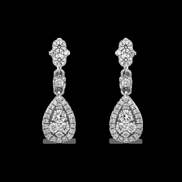 White gold earrings, PE17027-OBD_V