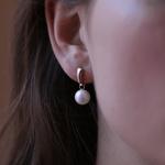 Pearls earrings, PE17004-ORPA_V