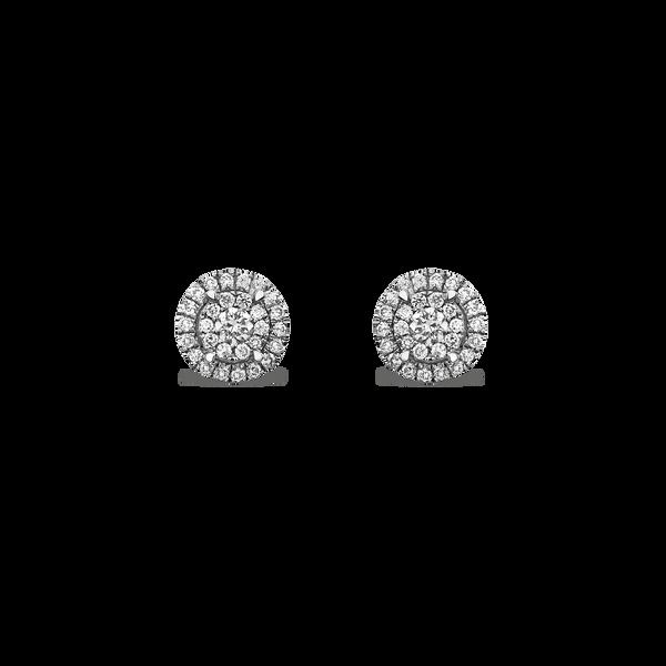 White gold earrings, PE16055-OBD_V