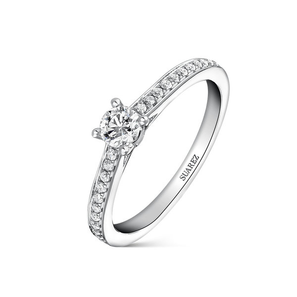 Engagement ring, SL14001-IGD025/FVS1