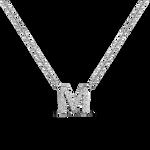 White gold pendant, PT17002-OBDM_V