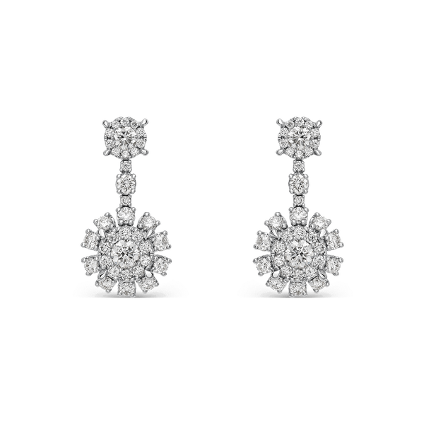 White gold earrings, PE17034-OBD_V